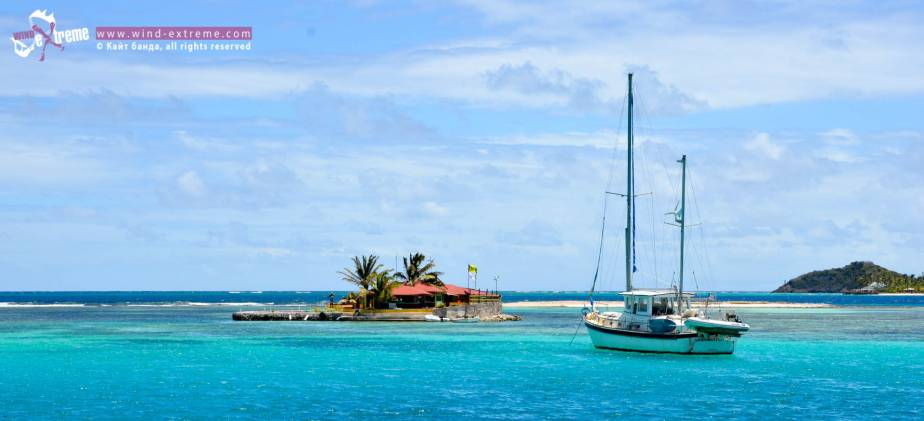 Кайтсерфинг ан Карибах, Happy Island