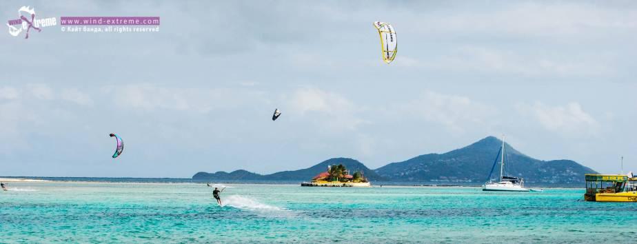 Кайтсерфинг каталка, Гренадины