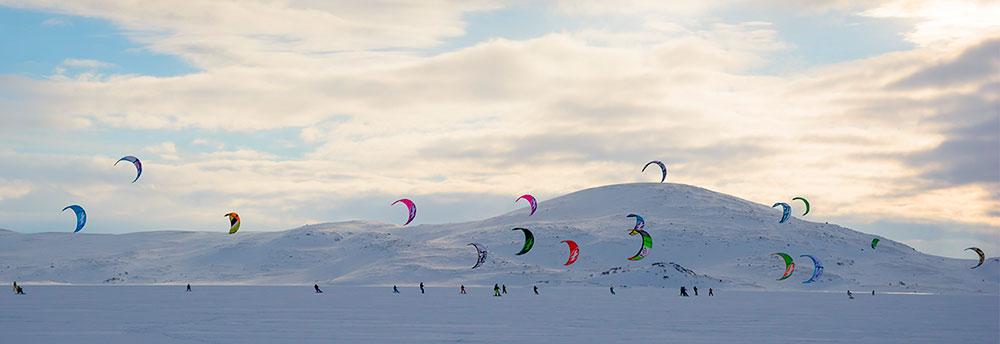 Сноукайтинг в Тундре, фото