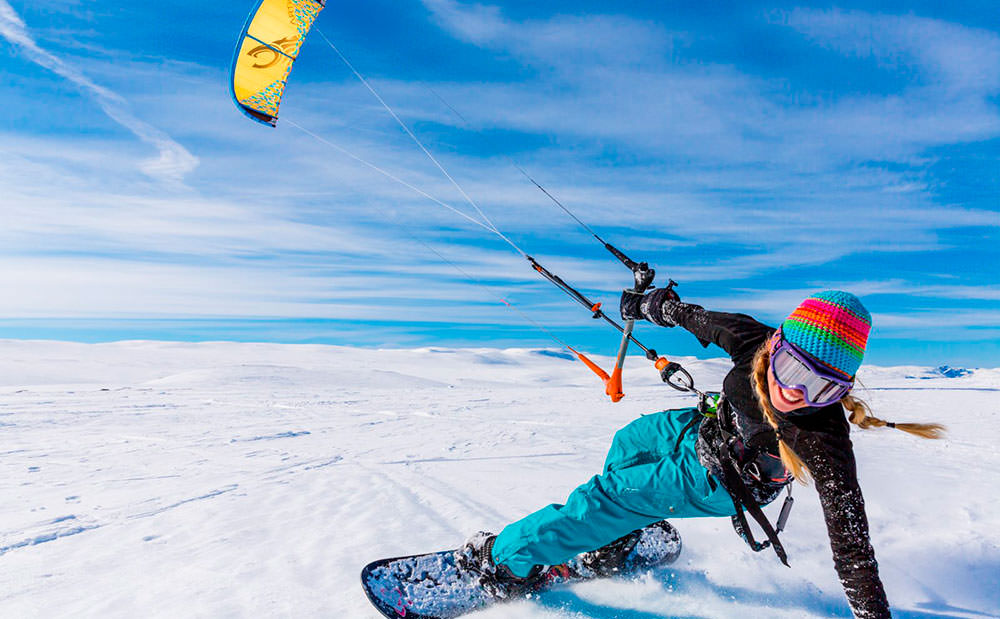 Тундра Кайт - сноукайтинг на Кольском полуострове